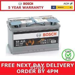 12V 80Ah S5A11 Heavy Duty AGM Start Stop Bosch Car Van Battery Type 115 S5 A11
