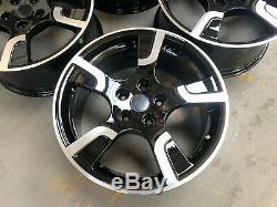 18 Sportline Style Alloy Wheels 5x120 Load Rated Transporter T5 Black Polished