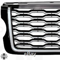 2018 facelift look Front Grille for Range Rover L405 Vogue 2013-17 Black+Silver