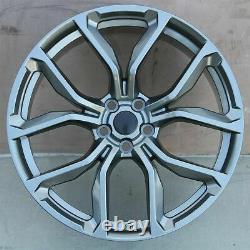 22 SVR Style Gun Metal Wheels Fit Land Range Rover Sport HSE 5x120 Rims Set 4