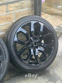 4 Range Rover Sport 22 Alloy Wheels And Tyres Genuine OE Land Rover