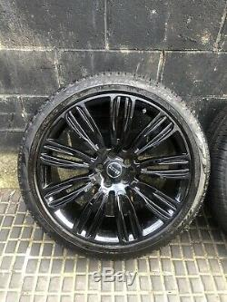 4x Range Rover Sport Vogue 9012 22inch Alloy Wheels And Tyres Tpms Included