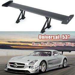 53 /135cm Universal Hatch Adjustable Aluminum GT Rear Trunk Wing Racing Spoiler