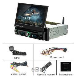 7 Car GPS DVD Single Din MP5 Player Stereo Bluetooth WIFI Radio USB Android 8.0