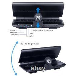7In Android 5.1 FHD Dual Lens Car DVR Dash Cam Rearview Camera GPS Nav Wifi ADAS