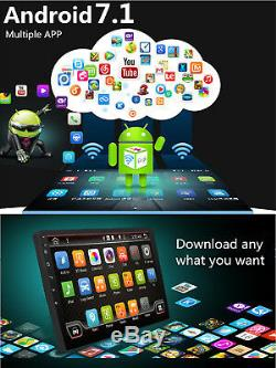 Android 7.1 Single DIN 10.1 Car Stereo GPS Sat Nav SD DAB+ WiFi Radio Bluetooth
