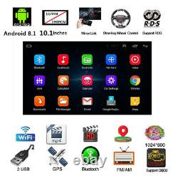 Android 8.1 BT Car Stereo Radio 2 DIN 10.1 MP5 Player GPS Wifi DAB Mirror Link