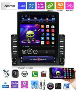 Android 9.1 9.7in 2DIN Car Stereo Radio GPS Navigation Player WIFI Free Camaera