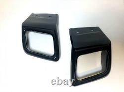 Black Rear Bumper Tow Eye Kit Inc Black Exhaust Tips RR Evoque 2011-18