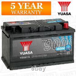 Car Battery YBX9115 AGM Stop Start Plus 12V 800CCA 80Ah T1 Terminal by Yuasa