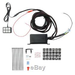 DC12V Car 6LED Switch Panel Relay Control Box+Wiring Harness Overload Protection