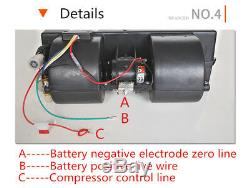 DC12V Universal 3-Speed Autos A/C KIT Evaporator Compressor Air Conditioner Tool