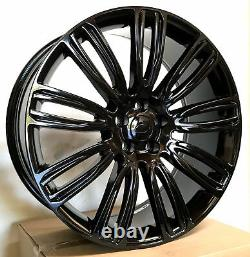 Dynamic Style 22x9.5 Gloss Black Wheels Fit Land Rover Range Rover HSE SVR