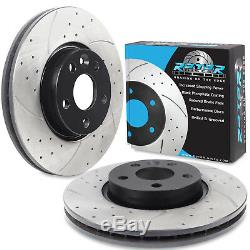 FRONT DRILLED GROOVED 300mm BRAKE DISCS FOR FORD S MAX ST GALAXY MONDEO TDCi