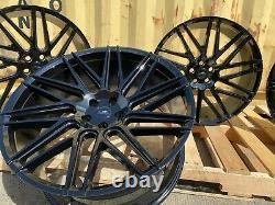 Fit Range Rover Vogue Sport 22 Alloy Wheels Turbine L322 L320 L494 GLOSS BLACK