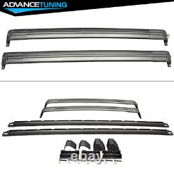 Fits 02-12 Land Range Rover HSE OE Factory Style Black Roof Rail & Cross Bar Set