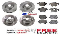 For Range Rover Evoque 2011-2015 Front & Rear Brake Discs And Pads Kit