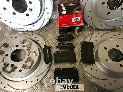 Front & Rear Discs With Brembo Pads Drilled & Grooved Range Rover Sport 3.6td V8