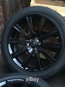 Genuine 21 Land Rover Range Rover Velar Alloys Wheels Conti Tyres Gloss Black