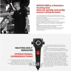 Induction Ductor Magnetic Heater Bolt Remover Flameless Heat 220V