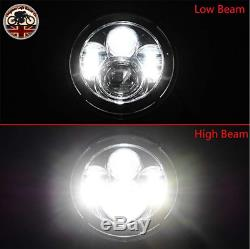 LED Headlights Pair Land Rover Defender 90 110 RHD + LHD E MARKED 7 Inch H4