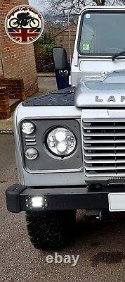 LYNX LED DRL Headlights x2 for Land Rover Defender 7 Inch DOT E9 MARKED 7802C