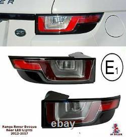Land Range Rover Evoque LED Rear Light Tail Lights Brake Light Lamp Clear PAIR