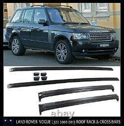 Land Range Rover Vogue L322 2002-2012 Oem Style Cross Roof Rails Bar Rack Black