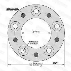 Land Rover Discovery 2 P38 30mm Aluminium Wheel Hubcentric Wheel Spacers & Bolts