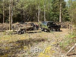 Land Rover Range Rover Hilux 2 Tonne Forestry Timber Crane Trailer Honda Engine