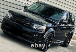 Land Rover Range Rover Sport 2005-13 Side Steps Running Boards All Black Stealth
