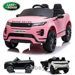 Licensed 12v Ride On Range Rover Evoque Kids Electric 2.4g Remote Control Car
