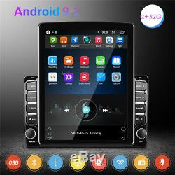 Quad-core Android 9.1 9.7In Car Stereo FM Radio MP5 Player Bluetooth GPS Sat NAV