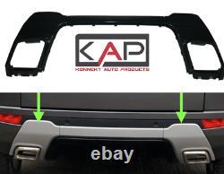 RR Evoque Dynamic 2011-18 Rear Bumper Insert Tow Eye Panels Inc Centre in Black