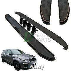 Range Rover Evoque Dynamic Stealth Gloss Black Edition Side Steps Running Boards
