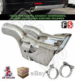Range Rover Sport Autobiography L320 Stainless Steel Exhaust Tips Tail Pipes