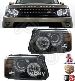 Range Rover Sport Led Headlights Pair 2010-2013 Autobiography Look Conversion