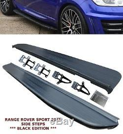 Range Rover Sport New L494 2018 Oem Style Side Steps Running Board Black Oem Fit
