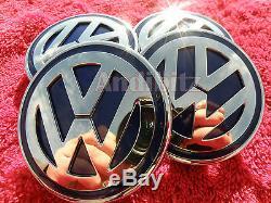 Range Rover Sport Vogue To Vw T5 Alloy Wheel Black & Chrome Badge Centre Cap