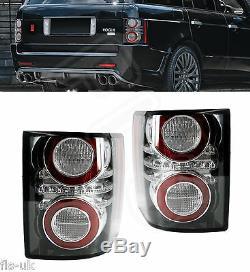 Range Rover Vogue L322'10-'12 Rear Led Tail Light Cluster Pair Black Insert