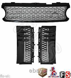 Range Rover Vogue L322 Supercharged 06-09 Front Grille & Side Vents Black/silver