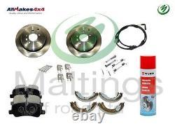 Range rover sport rear brakes kit range rover sport handbrake shoes discs+pads