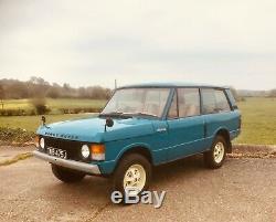 Rare 1971 Suffix A Classic 2 Door Land Rover Range Rover