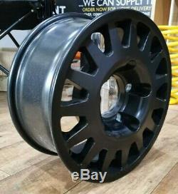 Set Of 4 Land Rover Defender 16 X 7 Maxxtrac Blindo Black Alloy Wheels