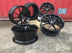 VW Transporter T5 T6 20 inch Alloy Wheels And Tyres Black 935 Spyder + Tyres
