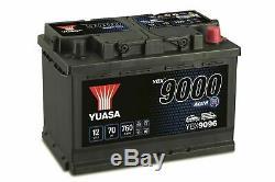 096 Yuasa Ybx9096 Agm Start-stop Batterie De Voiture 12v 70ah Avec 4 Ans De Garantie