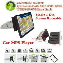 10.1 Android 8.1 Quad-core 1din Car Radio Stéréo Mp5 Gps Sat Navigator