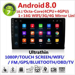 10.11080p Écran Tactile 4cpu + 4gpu 1 + 16g Car Stereo Radio Gps Wifi 3g 4g Bt Dab