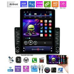 10.1in 1din Android 8.1 Gps Voiture Sat Navi Bluetooth Radio Wifi Lecteur Multimédia