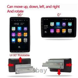 10.1in Voiture Mp5 Player Android 9.1 Rotatable Écran Tactile Stéréo Radio Gps Wifi